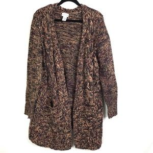 Soft Surroundings Open Front Cardigan Chunky Long
